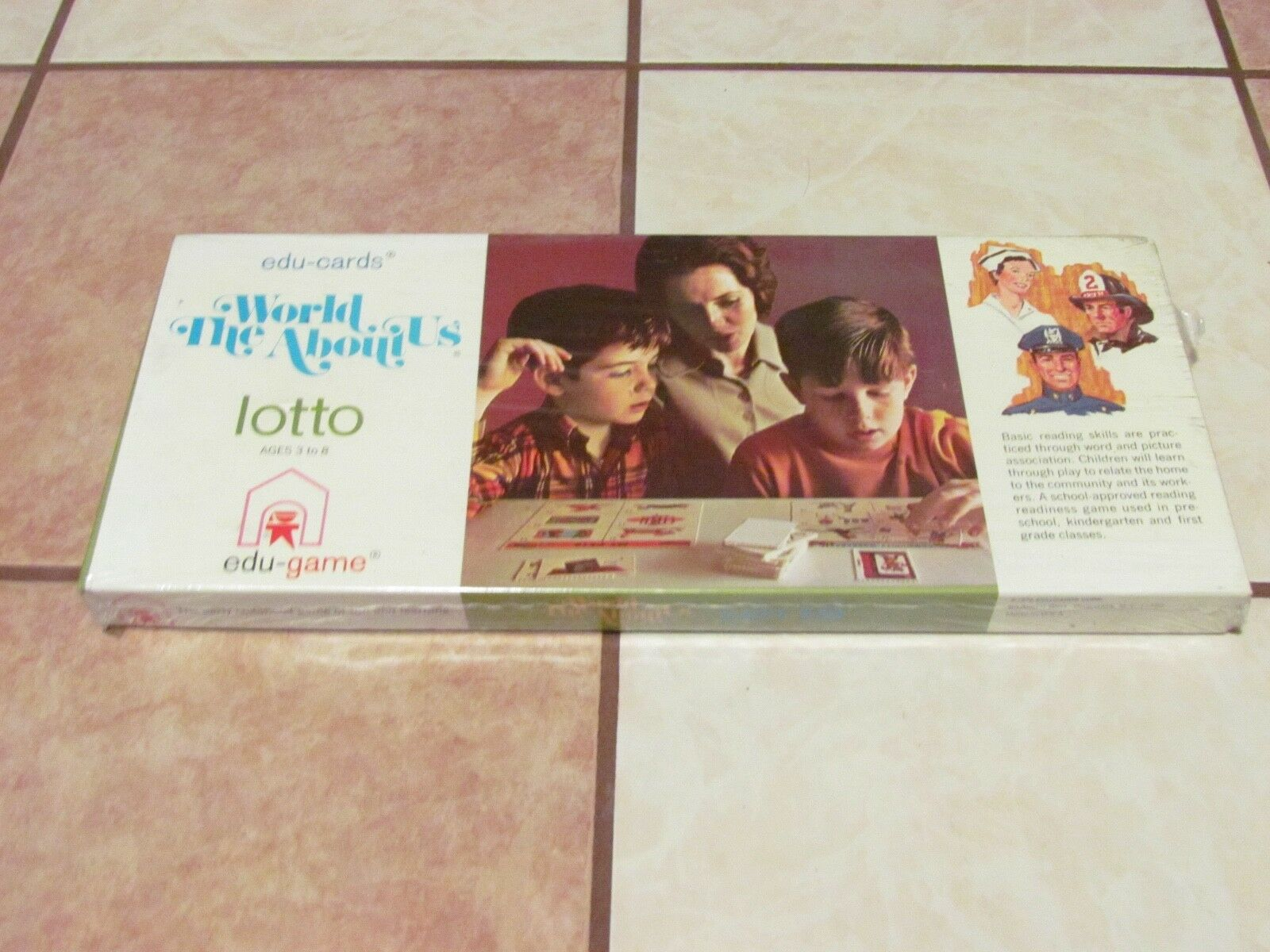 NEW SEALED EDU-CARDS WORLD ABOUT US LOTTO 1970 EDU-GAME RARE VINTAGE LEARNING