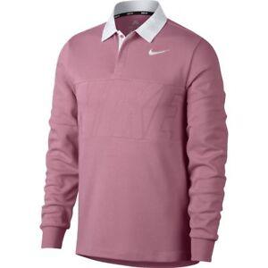 Nike SB Dri Fit Polo Shirt Pink White Sz Large 885847-678  30cedbde79da