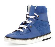 Jimmy Choo Barlowe Blue Viper Leather Sneaker 45   12 New in Box Snakeskin Shoes