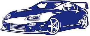 Toyota-Supra-Vinyl-Wall-Art-Sticker-Decal-Various-Colors-FREE-P-amp-P-UK