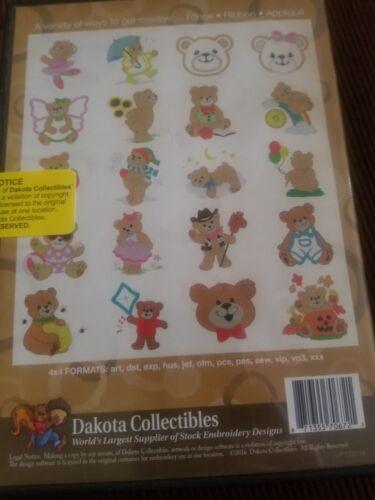Dakota Collection Embroidery Teddy Bear Variety