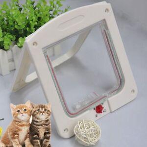 4-Way-Locking-Pet-Cat-Kitty-Small-Dog-Doggy-Puppy-Flap-Safe-Door-Tunnel-BI