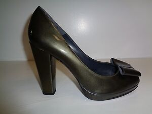 Stuart-Weitzman-Size-10-5-M-BOWRIGHT-Gray-Quasar-Leather-Heels-New-Womens-Shoes