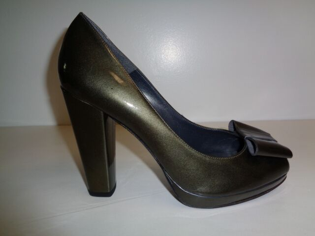 Stuart Weitzman Size 10 M BOWRIGHT Gray Quasar Leather Heels New Womens Shoes