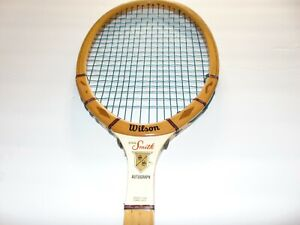 online retailer f5fb3 f18b8 Details about Vintage Wilson Stan Smith Autograph Racket Speed Flex Fibre  Face + Zip Cover