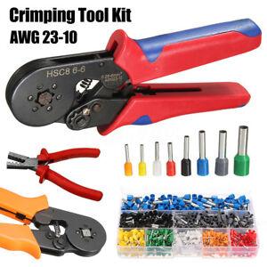 Ratchet-Crimper-Plier-w-800-Tube-End-Ferrule-Terminals-Connector-Crimping-Tool