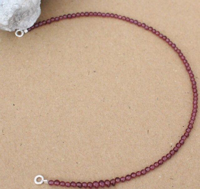 SD-34 Silber Facettiert Lapislazuli  Edelstein Armband 23 cm,2 mm