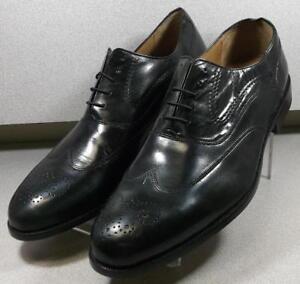 208991 MS50 Men's Shoes Size 12 M Black Leather Lace Up Johnston & Murphy