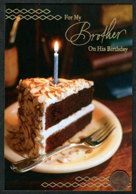 Groovy Birthday Piece Of Cake Frosting Candle For Brother Birthday Funny Birthday Cards Online Barepcheapnameinfo