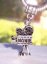 Movie Camera Film 3D Video Retro Dangle Bead for Silver European Charm Bracelets