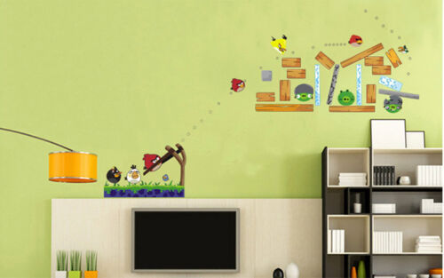 FEATURE ANGARY BIRD Kids Removable Wall sticker decal for Kids /& Nursery