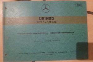 Unimog Motor Om 352 100-110 Ps Ersatzteilliste 1970 Mercedes Benz Ausgabe F Anleitungen & Handbücher