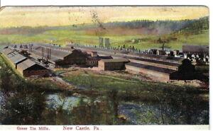 CK-069-PA-New-Castle-Greer-Tin-Mills-Advertising-Divided-Back-Postcard-Birdseye