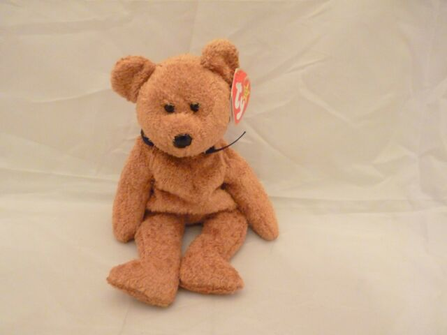 1998 Ty Fuzz Brown Teddy Bear Beanie Baby Original Tags Errors 98 99 ... 8107beaa08d6