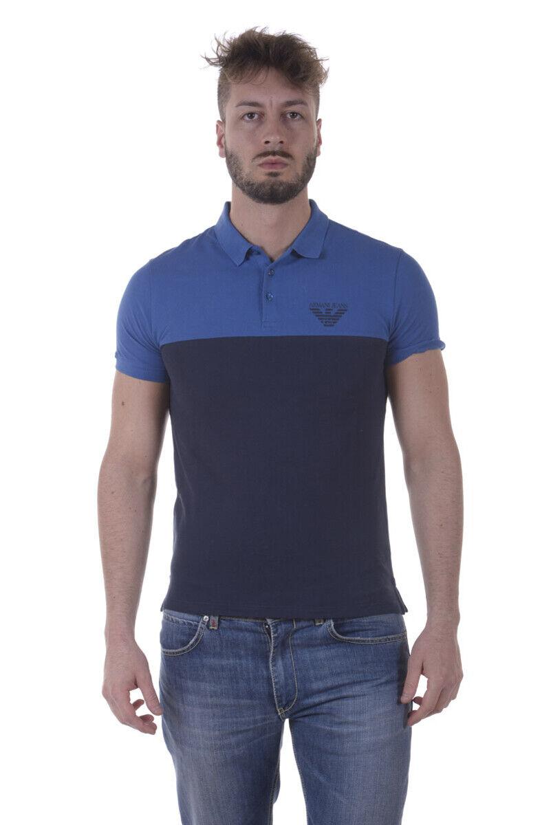 Polo Armani Jeans AJ Polo Shirt Cotone herren Blau 3Y6F076J0SZ 1541