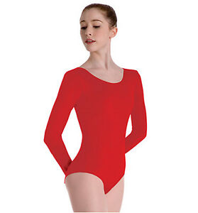 a15cfe3f8 Capezio 134C RED Size LG Child Long Sleeve Leotard