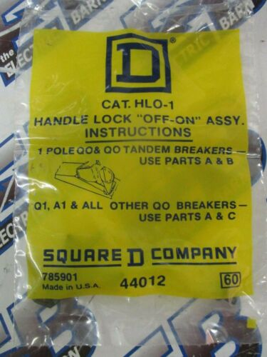 HANDLE ATTACHMENT SQUARE D HLO1 NEW QO LOCK OFF-ON