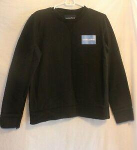 Calvin-Klein-Jeans-Crewneck-Sweatshirt-Black-Blue-Size-M