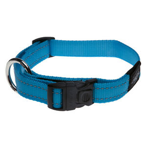 "Rogz Dog Side Release Collar Utility - 3/4"" Fanbelt Large 13-19in neck - Turqois"