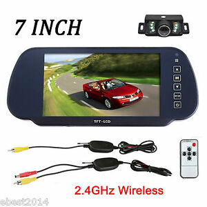 wireless car reverse rear view backup camera 7 inch tft lcd mirror rh ebay com TFT LCD Monitor for Car 7 Inch TFT LCD Monitor