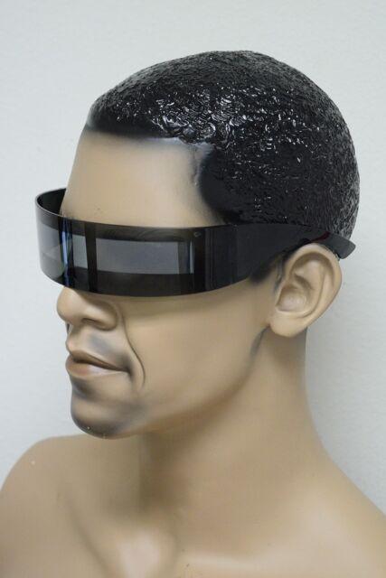 Retro Techno Futuristic Rave Space Robot Visor Shield Style Mirror Sun Glasses