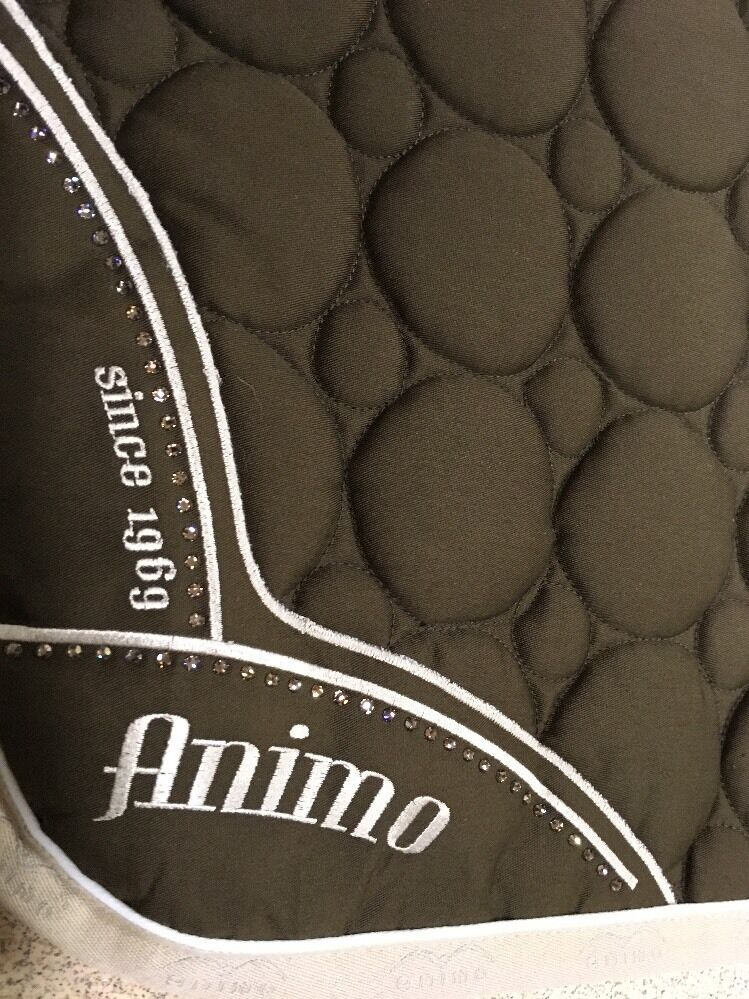 Animo saddle pad  brown with swarovski crystals new  world famous sale online