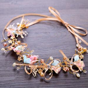 Bridal-Wedding-Flower-Crown-Floral-Hairband-Women-039-s-Headband-Wreath-Party-Prom