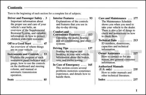 1998 Honda Passport Owners Manual Original OEM Owner User Guide Book DX EX LX