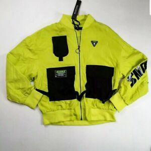 Hudson-Outerwear-mens-100-authenitc-L-S-zip-up-jacket-size-large-slime-icons