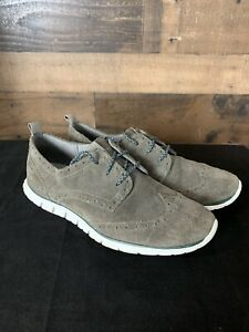Cole-Haan-Zerogrand-Womans-Gray-Suede-Oxford-Sneaker-Shoe-Size-9B