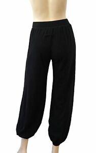 JEAN PAUL GAULTIER SOLIEL Black Mesh High Waist Cuffed Harem Pants XS