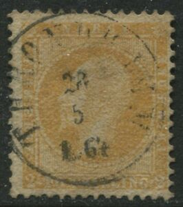 Norway-1857-2-skilling-yellow-used