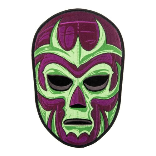 Mexican Wrestler Purple Mask Patch Lucha Libre Patches
