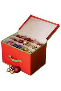 CHRISTMAS TREE ORNAMENT DECORATION STORAGE BOX WITH ...