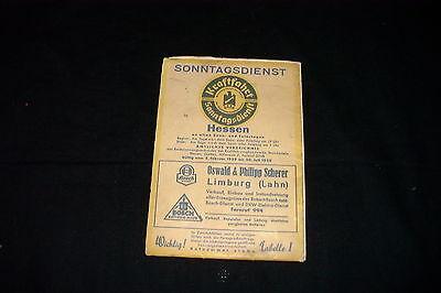 Gut Ausgebildete Kraftfahrt - Sonntagsdienst - Hessen 1939 - Gültig 05.02.1939 - 30.07.1939