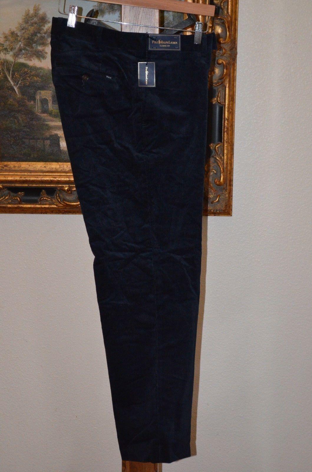 POLO RALPH LAUREN 35 X 30 DARK blueE MEN'S CORDUROY CLASSIC FIT PANTS MSRP