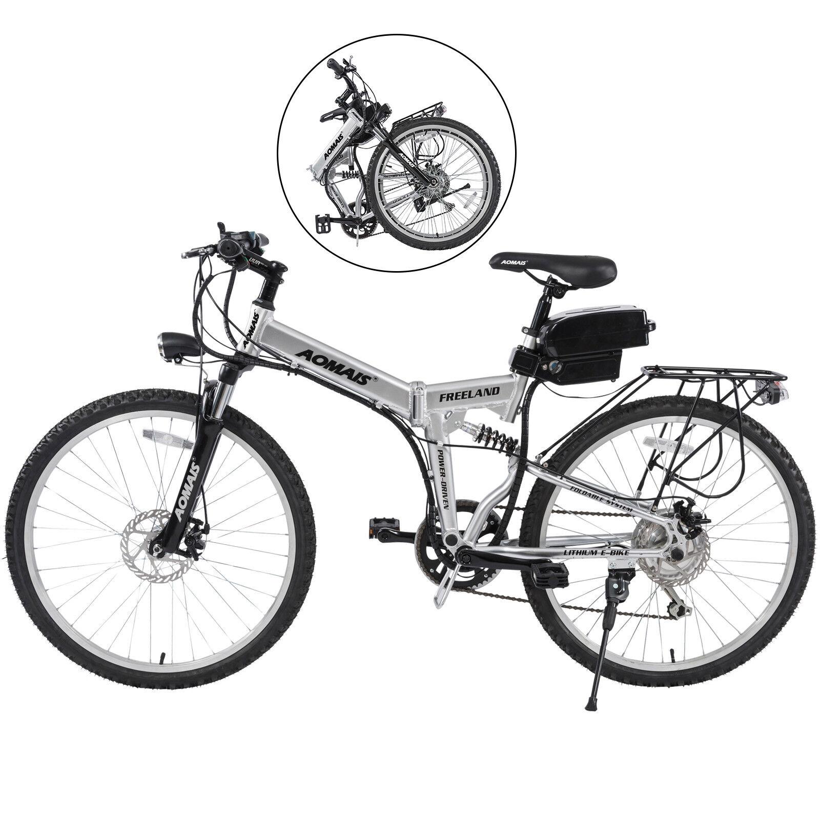 3dd10fa79e1 26 Electric Bicycle Aluminum Folding Mountain Cycling E-Bike 7 Speeds 36V  250W