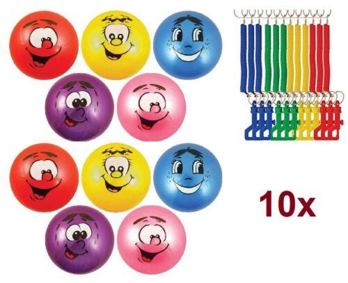 10x Gonflable Grand Fruité SCENTED PUANT balle avec crochet porte-clés Kids Party Toy