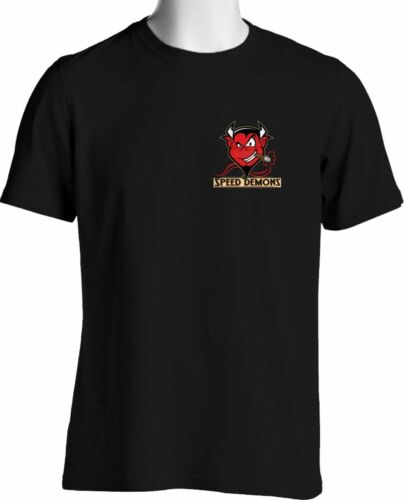 Speed Demon/'s Hot Rod Shop Red Devil CHEST LOGO T SHIRT M L XL 2X 3X 4X 5X 6XL