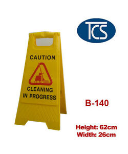 Sign-Stand-034-CLEANING-IN-PROGRESS-039-039-A-FRAME-Yellow-63cm-High-Plastic