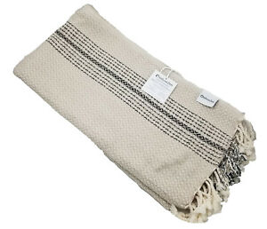 Beige-and-Black-Diamond-and-Zig-Zag-Beach-or-Bath-Turkish-Towel-Peshtemal