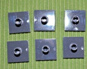 6 ~ Dark Gray 2X2 Tile w/ Vertical Stud Technic ~ New Lego Parts ~