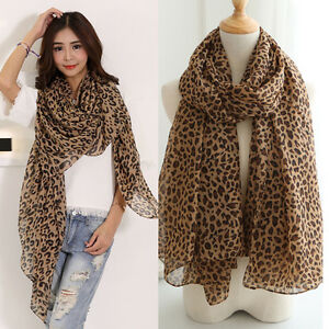 New-Fashion-Women-Long-Style-Wrap-Lady-Shawl-Leopard-Chiffon-Scarf-Scarves-Stole