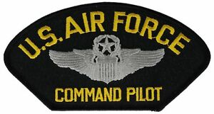 US-Air-Force-USAF-Command-Pilot-Iron-on-Hat-Patch-F1D11G