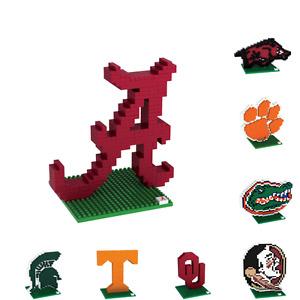 NCAA College Team Logo 3D Puzzle BRXLZ Set - Pick Your Team!