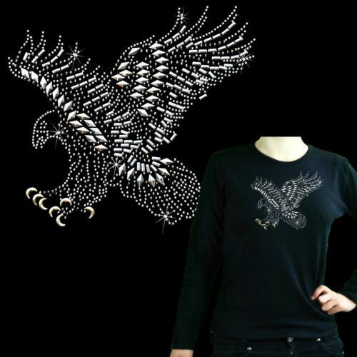 * Glitzer Nieten  Strass Adler Damen Girl  T-Shirt *7203 LS
