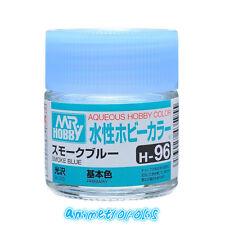 Mr Hobby Gunze Aqueous Color Acrylic H96 Smoke Blue Model Paint 10ml Us