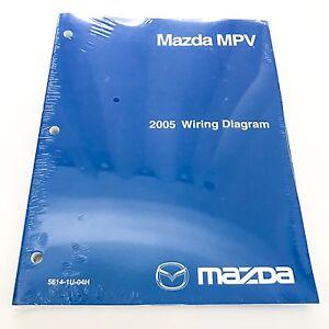 NEW 2005 Mazda MPV Minivan Factory OEM Wiring Diagram ...