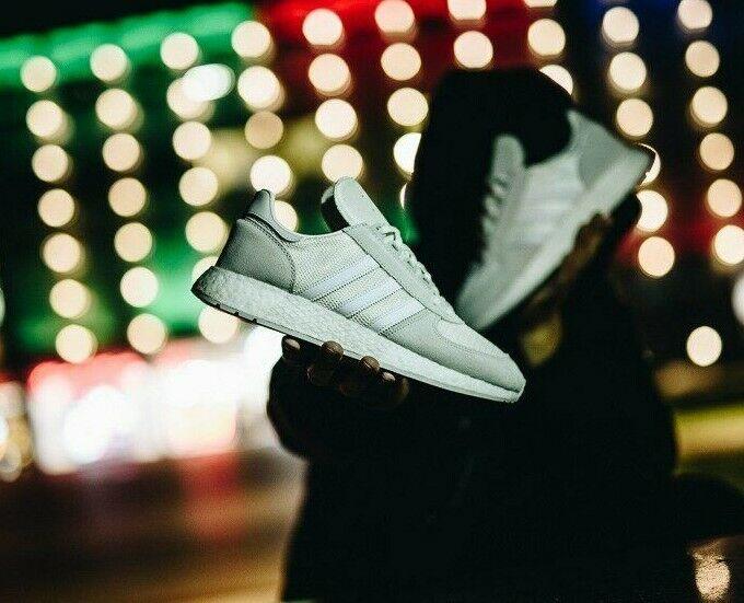 Adidas Marathon X 5923 Triple Weiß Mens Trainers Größe UK 10.5 EU 45 1 3 schuhe
