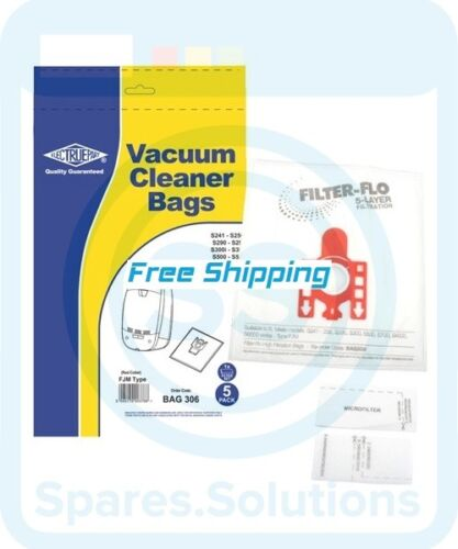 Replacement Vacuum Cleaner Bag For Miele Cat /& Dog S766 Type:FJM Pack of 5